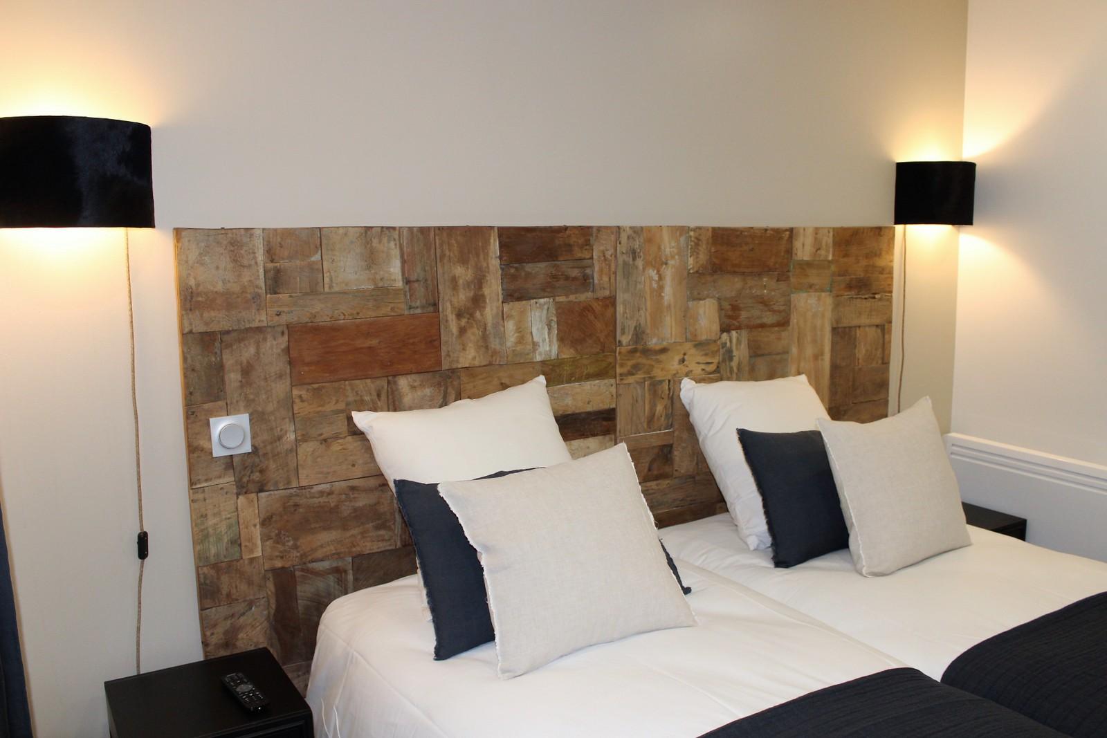 confort 2 lits lit double 2 alpes matière literie hotelière