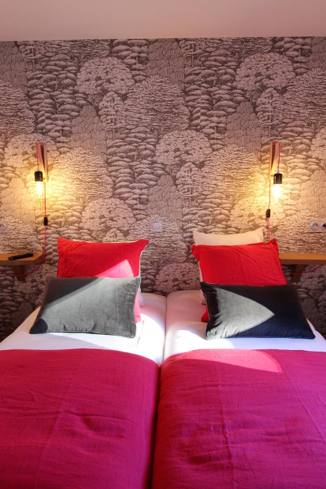 chambre double rose montagne les 2 alpes