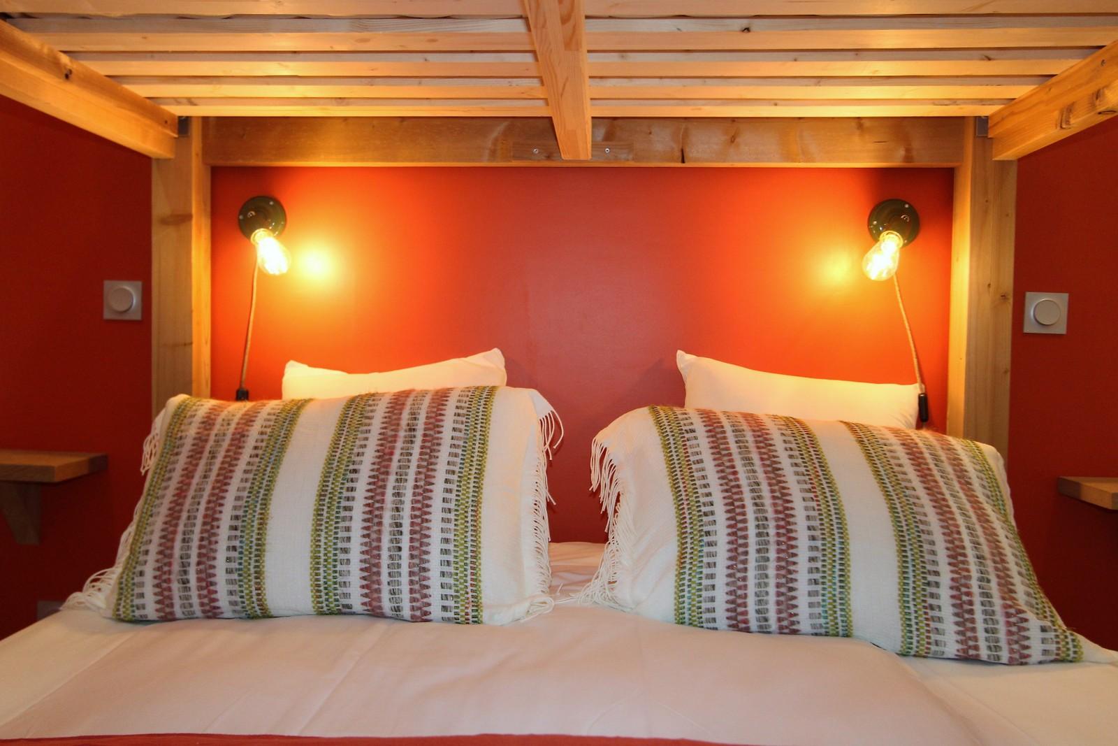 dortoir 4 lits refuge montagne les 2 alpes enfants confortable