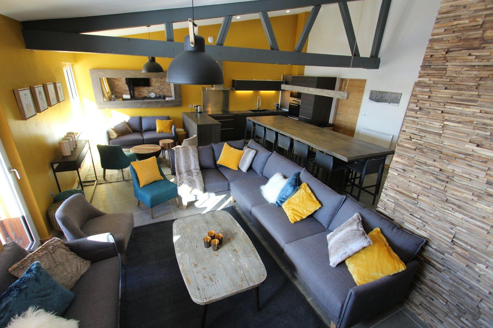 neige ski grand appartement grand chalet chambre avec salle de bain 14 personnes vacances en famille vacances entre amis neige