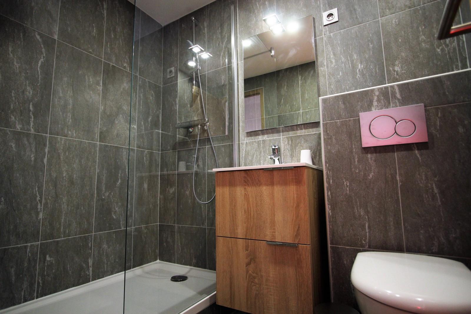 salle de bain renovée wc les 2 alpes