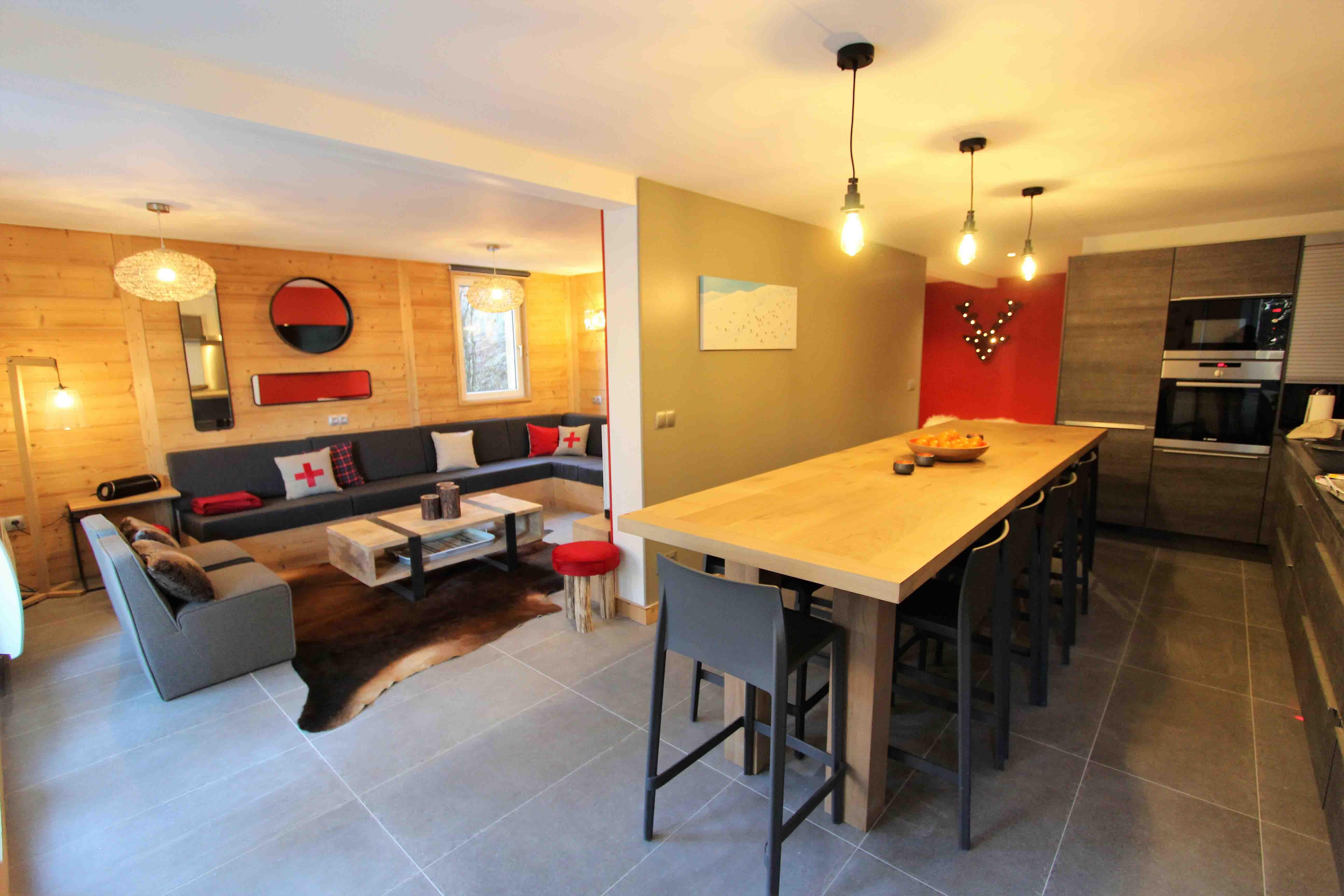 Location appartement standin 12 personnes les 2 Alpes conviviale